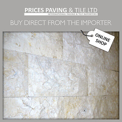 £59.99 • Buy JERUSALEM LIMESTONE TILES For FLOOR WALL In Various Sizes 1m2 WINTER SALE PRICES