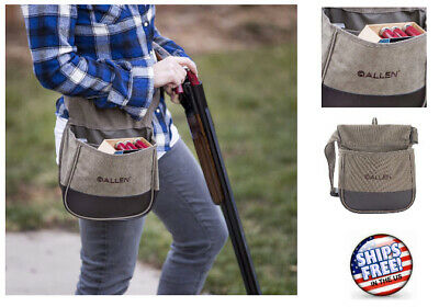 Ammo Pouch Trapshooting Shotgun Shell Hunting Bag Pouch Double Compartment, Tan • 37.97$