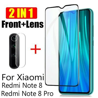 AU1 • Buy 2 In 1 For Xiaomi Redmi Note 8 Pro Camera Lens Glass + 9D Full Screen Protector