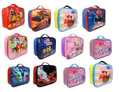 Kids Children Insulated Lunch Bag Box • 4.49£