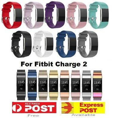 AU9.95 • Buy Fitbit Charge 2 Band Replacement Wristband Watch Strap Bracelet Silicone Metal