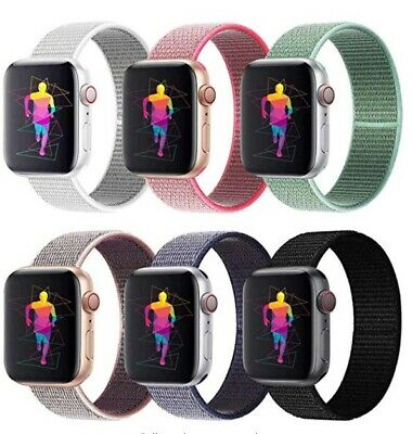 AU6.50 • Buy Sport Nylon Woven Loop Strap IWatch Band 38 42 For Apple Watch Series 5 4 3 2 1