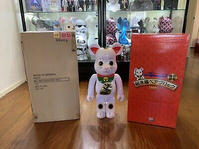 $1489.10 • Buy Bearbrick 1000% Lucky Cat Neko White (2014)