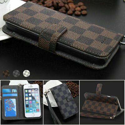 $ CDN10.28 • Buy Luxury Deluxe Grid Wallet Flip Leather Stand Card Phone Case Cover