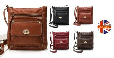 Elegant Leather Women's Multifunction Cross-body Bag Purse With Clasp • 8.99£