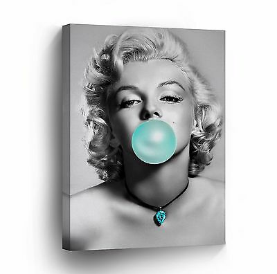 $19.99 • Buy Marilyn Monroe Chewing Gum Black And White Canvas Photo Wall Art Prints Framed