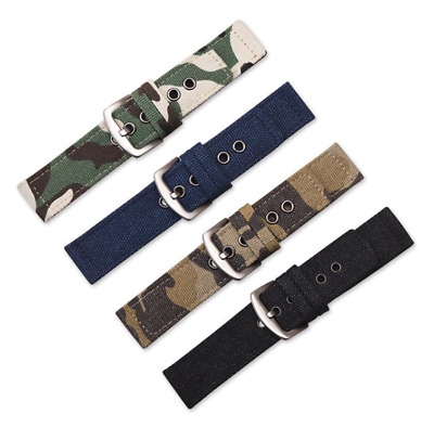 $ CDN12.75 • Buy Canvas Watchband Watch Strap Military Diver Band For Swatch Casio Seiko Orient