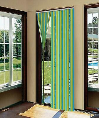Door Strip Curtain Plastic Strips Fly Insect Stop Striped Blind Traditional New  • 4.73£