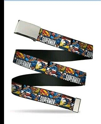 $9.99 • Buy Buckle-Down Adult Big Web Belt-Superman-1.0  Wide-Fits Up To Kids Size 20 BB