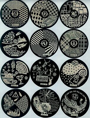 $2.50 • Buy Round Nail Stamping Plates Nail Art Manicure Pedicure Accessory