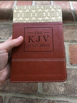 AU32.23 • Buy NEW! KJV Study Bible ~ King James Version ~ Brown ~ Leathersoft ~ Small Print