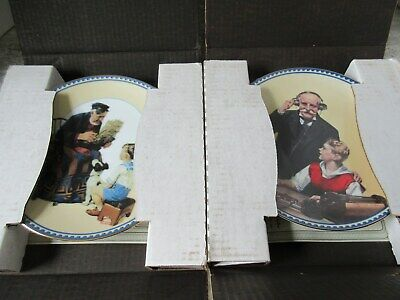 $ CDN26.24 • Buy Set Of 4 Norman Rockwell Innocence & Experience Collector Plates 1990's Knowles