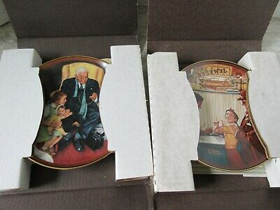 $ CDN41.24 • Buy 7 Old Vintage Norman Rockwell Collector Plates Light Campaign Series Knowles