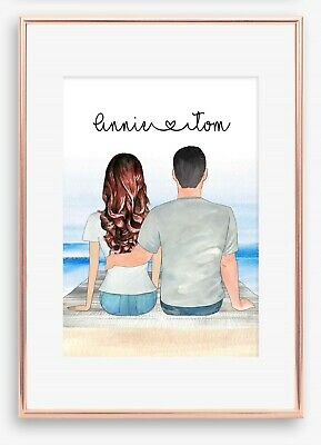 AU19.44 • Buy A4 Love Couple Boyfriend Wall Print/Sign Unique Gift Personalised Valentines Day