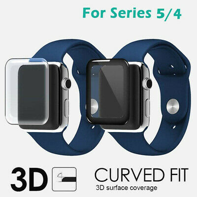$ CDN3.38 • Buy For Apple Watch Series 5/4 3D Full Tempered Glass Screen Protector Cover 40/44mm