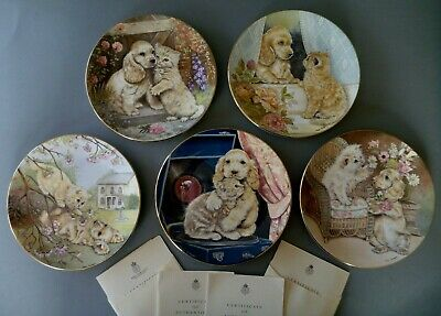 £8.50 • Buy Royal Worcester Pam Woodhouse Animal Friends Plates: Puppy Dog Kitten Cat