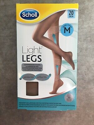 NEW Scholl Light Legs Compression Tights Nude 20 Den Size Medium  • 6£