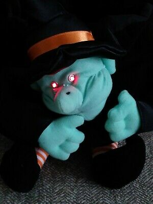 $ CDN31.23 • Buy Vintage Halloween Witch Talking Light-Up Eyes Plush Trick Or Treat Candy Bucket