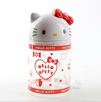 $ CDN15.70 • Buy Hello Kitty Cosmetic Makeup Case Clear Q-tip Storage Holder Cotton Pad Swab Box