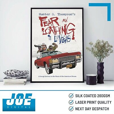 1998 FEAR AND LOATHING IN LAS VEGAS - Movie Film Poster Print - A3 A4 A5 • 7.85£