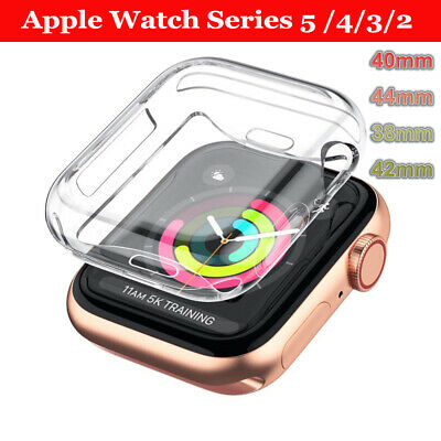 $ CDN1.79 • Buy For Apple Watch Series 5/4 Full Cover Silicone TPU Case Shockproof Clear Bumper