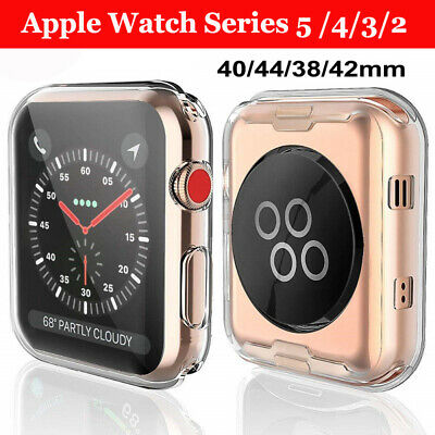 $ CDN1.96 • Buy For Apple Watch Series 5 4 3 2 Full Cover TPU Case IWatch Screen Protector 44/40