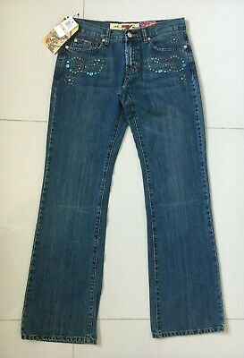 AU52 • Buy SEVEN 7 For All Mankind Womens Blue Bootcut Jeans - Size 29 - Pocket Studs - NWT