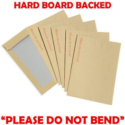 £1.29 • Buy Hard Card Board Back Backed Envelopes  Please Do Not Bend  Manilla Brown Rigid