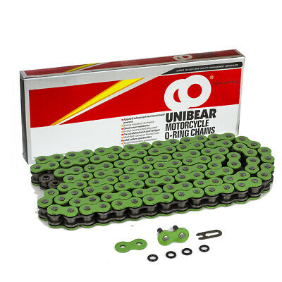 AU43.96 • Buy 520 Green Motorcycle O-Ring Chain 116 Links With 1 Connecting Link