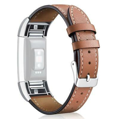 AU11.52 • Buy Leather Replacement Band Bracelet Strap WatchBand For Fitbit New Charge 2 N6Y6
