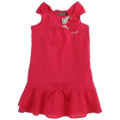 £22 • Buy JEAN BOURGET Girls Bright Pink Dress With Applique Heart 8yrs