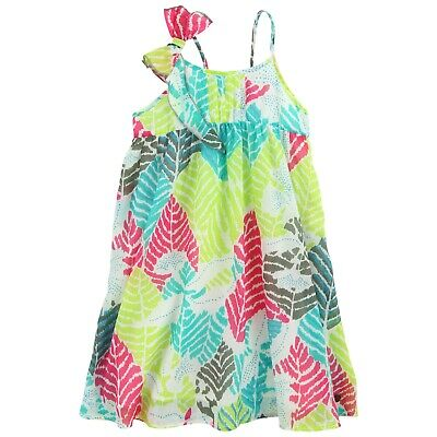 £24 • Buy JEAN BOURGET Girls Bright Tropical Leaf Sundress 4 & 5 Yrs