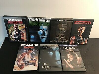 $ CDN35.24 • Buy Lot Of 7 Arnold Schwarzenegger/Stallone DVDs Predator Running Man Over The Top