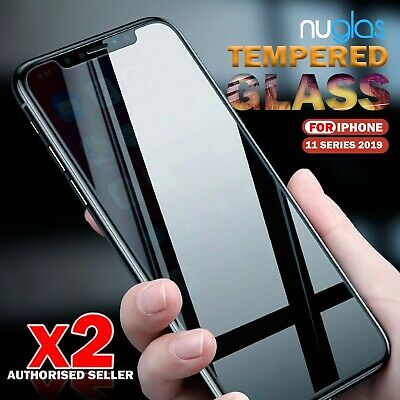 AU6.28 • Buy NUGLAS 2X Genuine Screen Protector For IPhone 11 Pro Max X XS XR  Tempered Glass