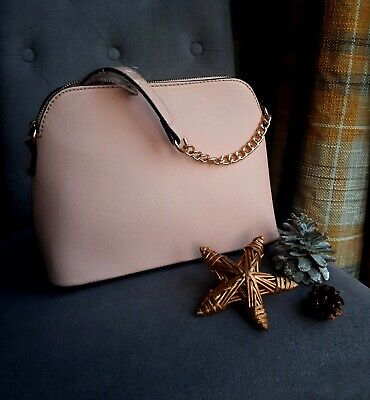 £13 • Buy Light Pink Cross Body Bag With Chain Detail Strap