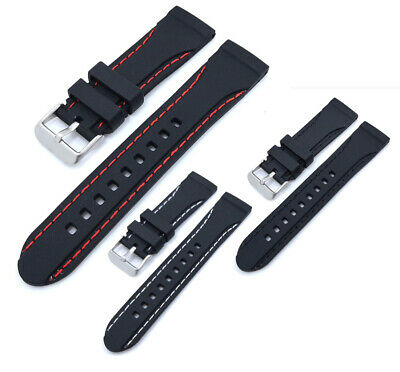 $ CDN14.52 • Buy Mens Watch Diver Band Silicone Rubber Strap For Casio Seiko Swatch