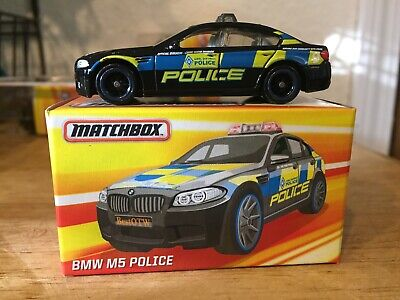 Matchbox 2016 Best Of Loose With Box BMW M5 Police Car Blue Black And Yellow • 5.99$