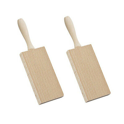 AU17.50 • Buy 2 Pack Appetito Gnocchi Board Plate Tray Rubberwood Rolling Pasta Maker