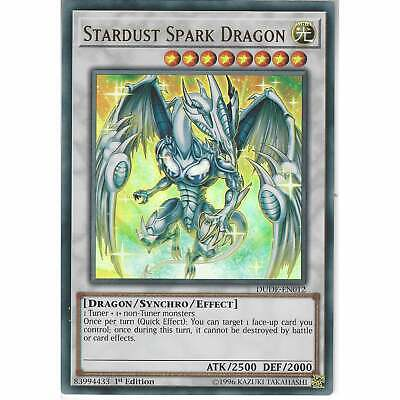 DUDE-EN012 Stardust Spark Dragon | 1st Edition | Ultra Rare Card | YuGiOh TCG • 0.99£