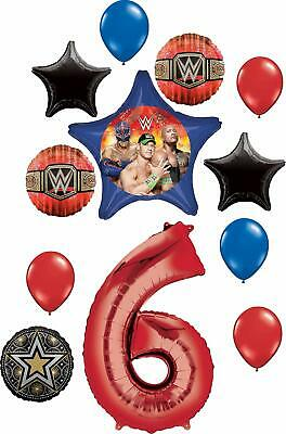 WWE Party Supplies 6th Birthday Balloon Bouquet Decorations • 17.68£