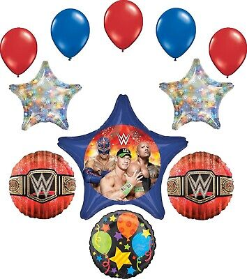WWE Party Supplies Birthday Balloon Bouquet Decorations • 14.85£