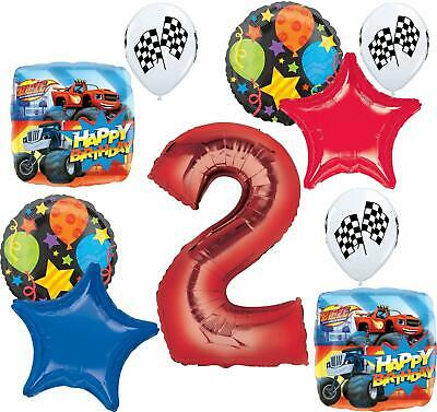 Blaze And The Monster Machines Party Supplies 2nd Birthday Balloon Bouquet De... • 16.93£