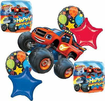 Blaze And The Monster Machines Party Supplies Birthday Balloon Bouquet Decora... • 16.93£