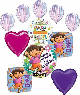 Dora The Explorer Party Supplies Birthday Balloon Bouquet Decorations • 16.49£