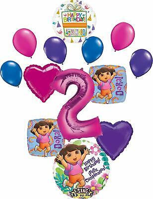 Dora The Explorer Party Supplies 2nd Birthday Balloon Bouquet Decorations • 16.49£