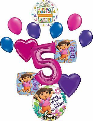Dora The Explorer Party Supplies 5th Birthday Balloon Bouquet Decorations • 16.49£