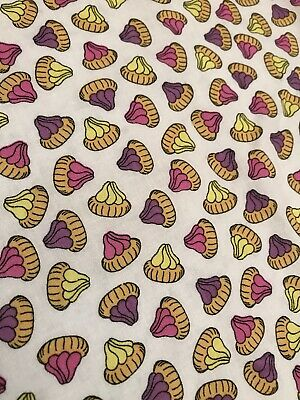 Novelty Iced Gems Bright Remnant Craft Material Fabric Piece 105x105cm • 3.99£