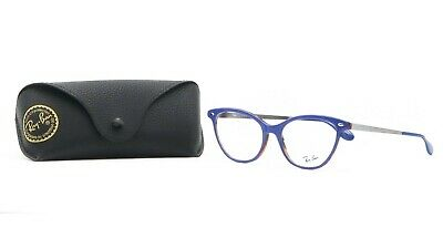 $55.20 • Buy Ray-Ban Women's Cat-Eye Blue/Silver Glasses With Case RB 5360 5716 54mm