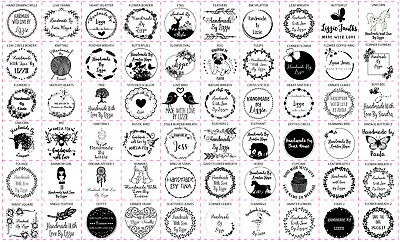 £9.99 • Buy Personalised Handmade By Laser Rubber Stamps - 60 Designs - Multiple Square Size