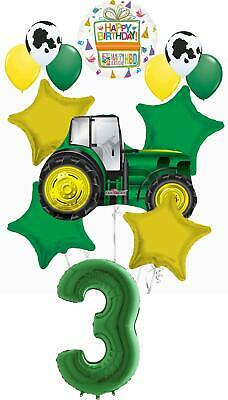 AU31.04 • Buy Farm Tractor 3rd Birthday Party Supplies 13 Pc Balloon Bouquet Decorations
